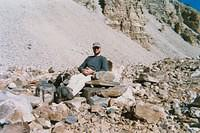 A rock chair at 11,000 ft on the glacier